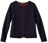 Petit Bateau Womens padded tube knit cardigan