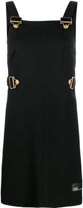 Versace Jeans Couture Buckle Strap Mini Dress