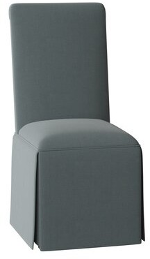 Sloane Side Chair Whitney Body Fabric: Angela Cloud, Piping Fabric: Angela Cloud