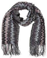 Missoni Open Knit Fringe Scarf