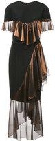 Christian Siriano asymmetric frill dress