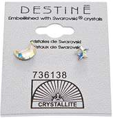 Crystallite AB Moon & Star Earrings