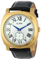 A Line a_line Women's AL-80023-YG-02-BK Pyar Analog Display Japanese Quartz Black Watch