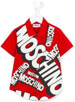 Moschino Kids - logo print shirt - kids - Cotton - 4 yrs