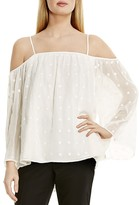 Vince Camuto Embroidered Cold Shoulder Blouse