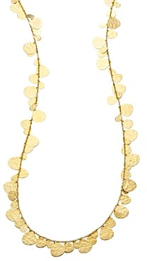 Ippolita 18K Yellow Gold Classico Crinkle Nomad Hammered Disc Statement Necklace, 40