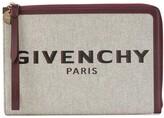 Givenchy logo print zipped clutch