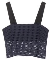 3.1 Phillip Lim Perforated Cotton Bralet