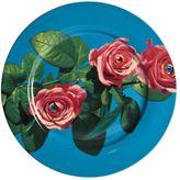 Seletti Wears Toilet Paper Roses Printed Porcelain Dish
