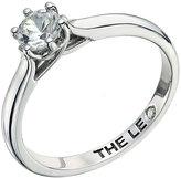 Leo Diamond 18ct white gold 0.50ct I-I1 solitaire ring