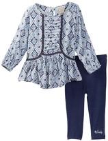 Lucky Brand Ikat Tunic & Legging Set (Baby Girls)