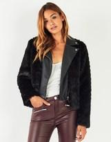 Lipsy Faux Fur Biker Jacket