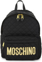 Moschino Black Quilted Classic Logo Backpack