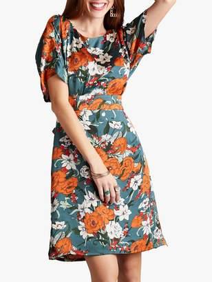 Yumi Floral Kimono Dress, Green/Multi