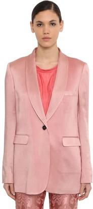 Ann Demeulemeester Oversized Satin Blazer Jacket
