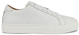 GREATS Royale Perf Smooth Leather Sneaker