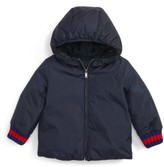 Gucci Infant Girl's Reversible Gg Jacquard Water-Resistant Down Jacket
