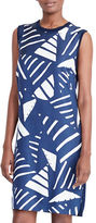 Lauren Ralph Lauren Petite Printed-Front Sweater Dress