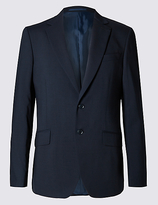 M&s Collection Big & Tall Navy Regular Fit Jacket