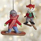 Crate & Barrel Winter Sports Animal Ornaments