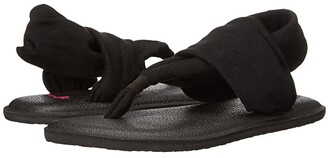 Sanuk Yoga Sling Burst (Little Kid/Big Kid) (Black) Girls Shoes