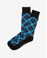 Express plaid dress socks