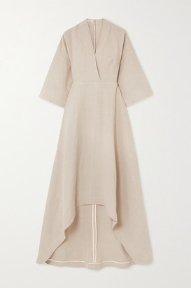 Co Asymmetric Twill Dress - Taupe