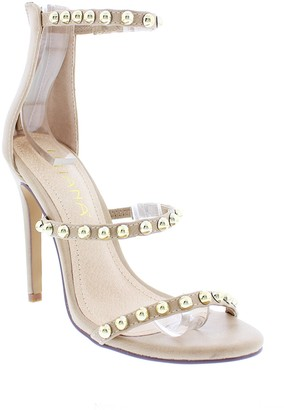Liliana Golden Studded Ankle Strap Sandal