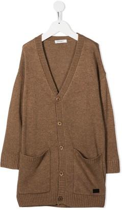 Paolo Pecora Kids Long Knitted Cardigan