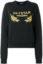 DSQUARED2 24-7 logo sweatshirt - women - Cotton - S