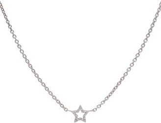 Kaizarin My Star Necklace In White Gold Extendable Chain