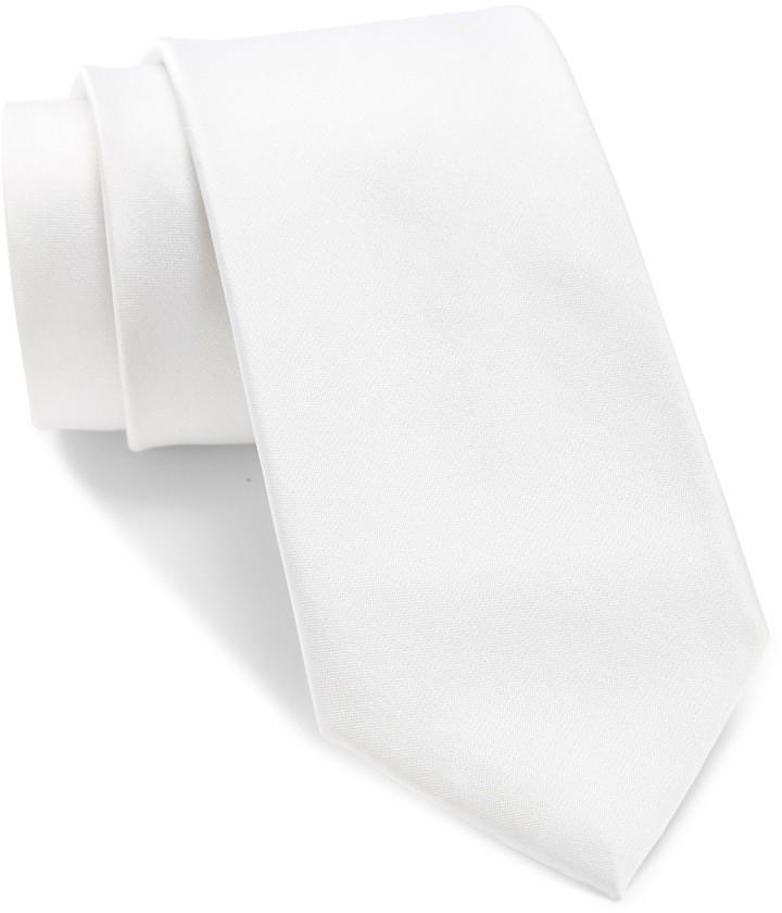 Calvin Klein Solid Silk Satin Slim Tie