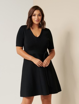 Forever New Stephanie Curve Knit Dress - Black - 16