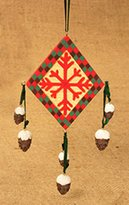"Kurt Adler 6"" Rustic Lodge Southwestern Snowflake Diamond Christmas Ornament #W3564"