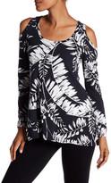 Karen Kane Cold Shoulder Floral Shirt