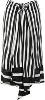 Tome striped midi skirt