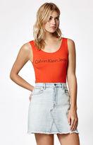 Calvin Klein A-Line Denim Mini Skirt