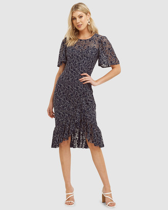 Cooper St Moonscape Lace Midi Dress