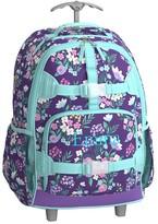 Pottery Barn Kids Rolling Backpack, Mackenzie Purple Flower Bouquets