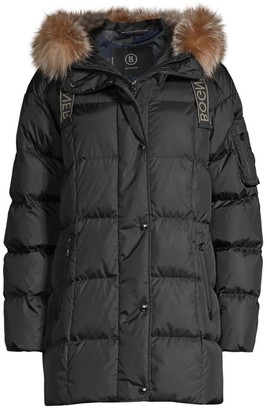Bogner Fanja Fox Fur-Trim Quilted Down Jacket