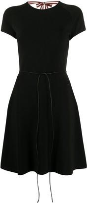 Bally back-tie skater dress