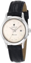 Momentum Women's 1M-CD75S2 Lugano Silver Dial Black Alligator Leather Watch