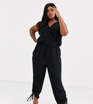 Simply Be utility jumpsuit in black