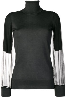 Fabiana Filippi sheer sleeves sweater