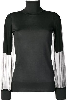 Fabiana Filippi Sheer Sleeves Sweater