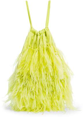 ATTICO The Ostrich Feather Pouch Bag