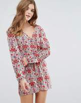 Lavand Printed Long Sleeve Playsuit