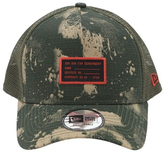 New Era Ripstop Camo Print Trucker Hat