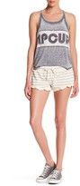 Rip Curl End of the Line Stripe Ruffle Hem Short