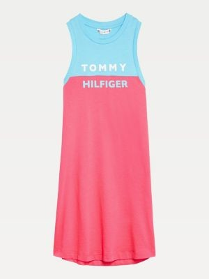 Tommy Hilfiger Colour-Blocked Logo Tank Dress